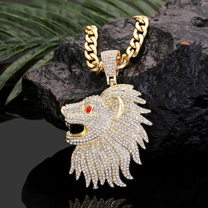 Lion Head Pendant Iced Out *NEW*