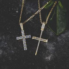 Diamond Cross + Nail Cross Set