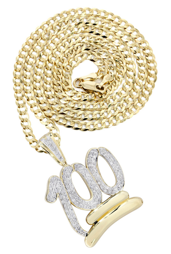Gold 100 Pendant *NEW*