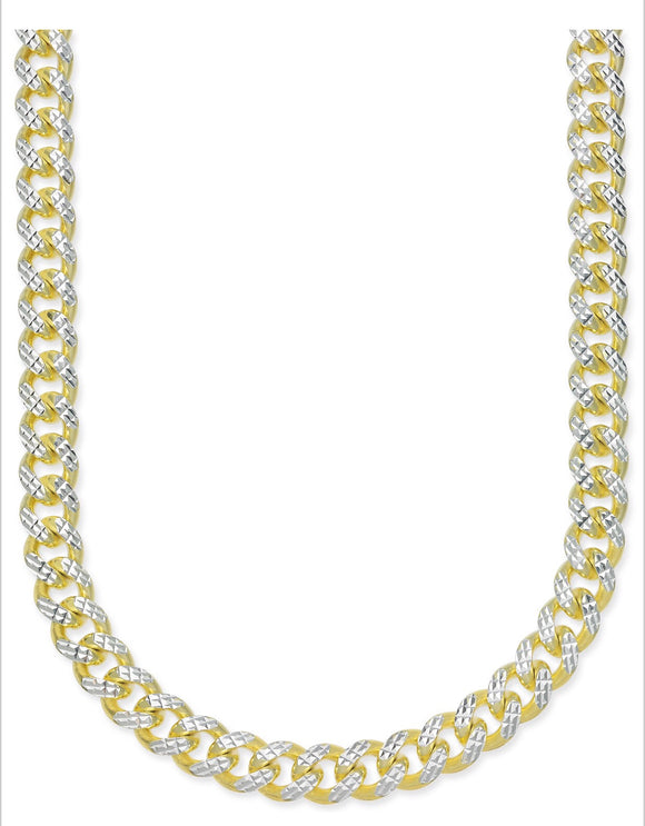 Two-Tone Cuban Link Chain