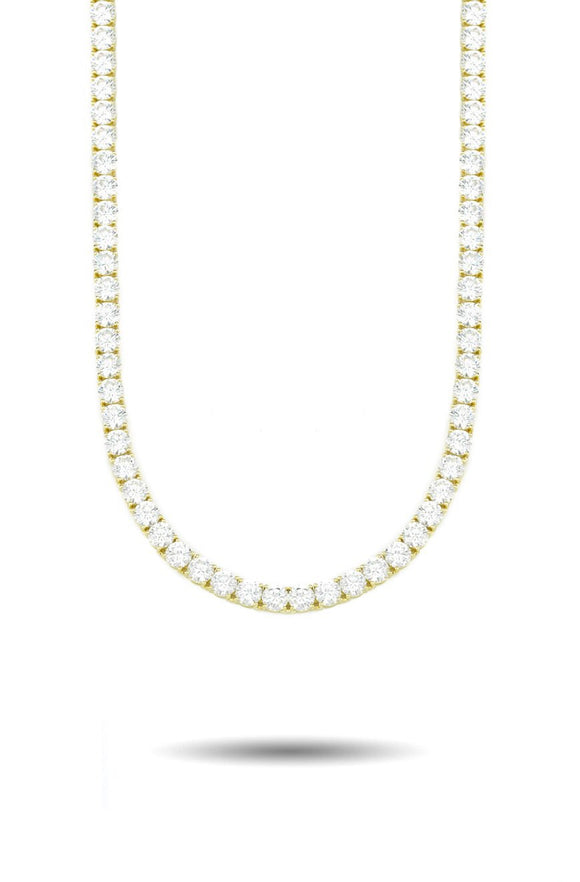 5MM DIAMOND TENNIS CHAIN IN GOLD *NEW*