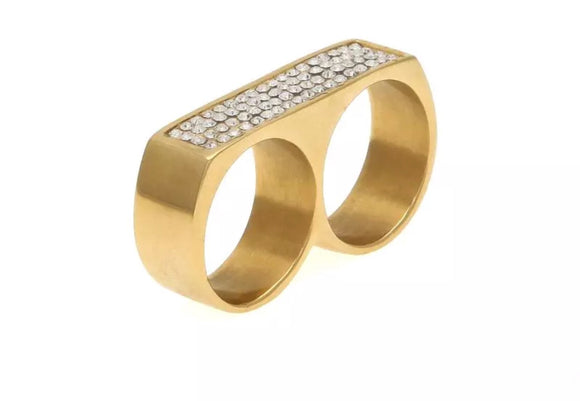 Gold Two Finger Ring *NEW*