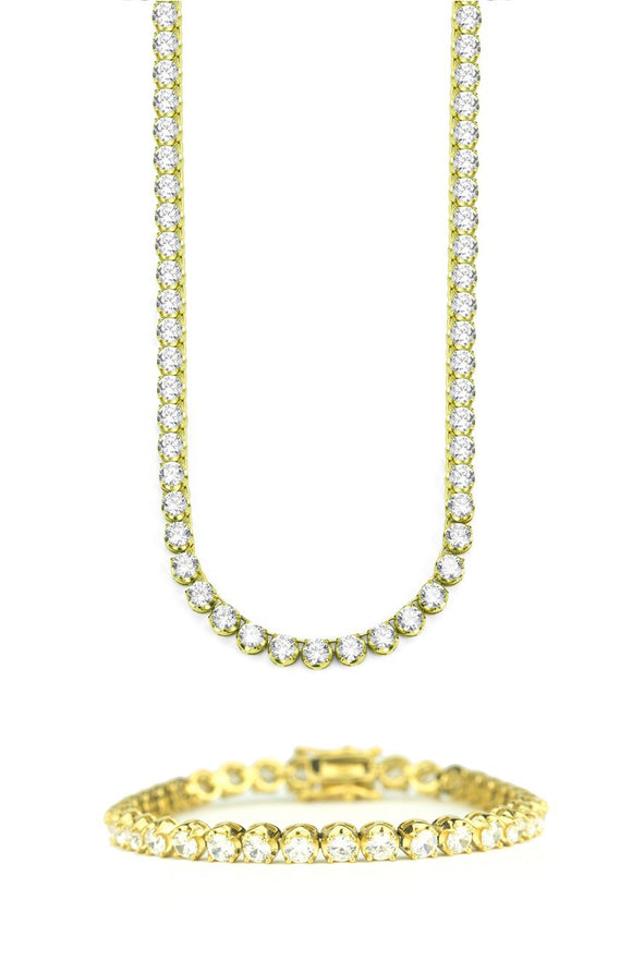 4MM DIAMOND BUTTERCUP TENNIS BUNDLE IN GOLD