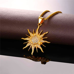 New Sun Flower Gold Chain.