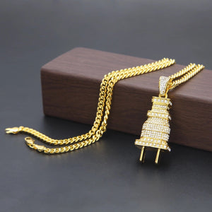 Diamond Plug Chain yellow gold