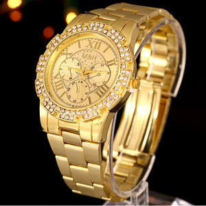 Luxury Unisex Wrist Watch Gold.