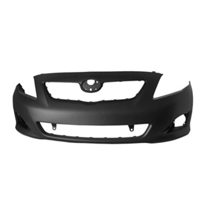 2009-2010 TOYOTA COROLLA CE/ LE/ BASE MODEL  FRONT BUMPER COVER WITHOUT SPOILER HOLES TO1000343