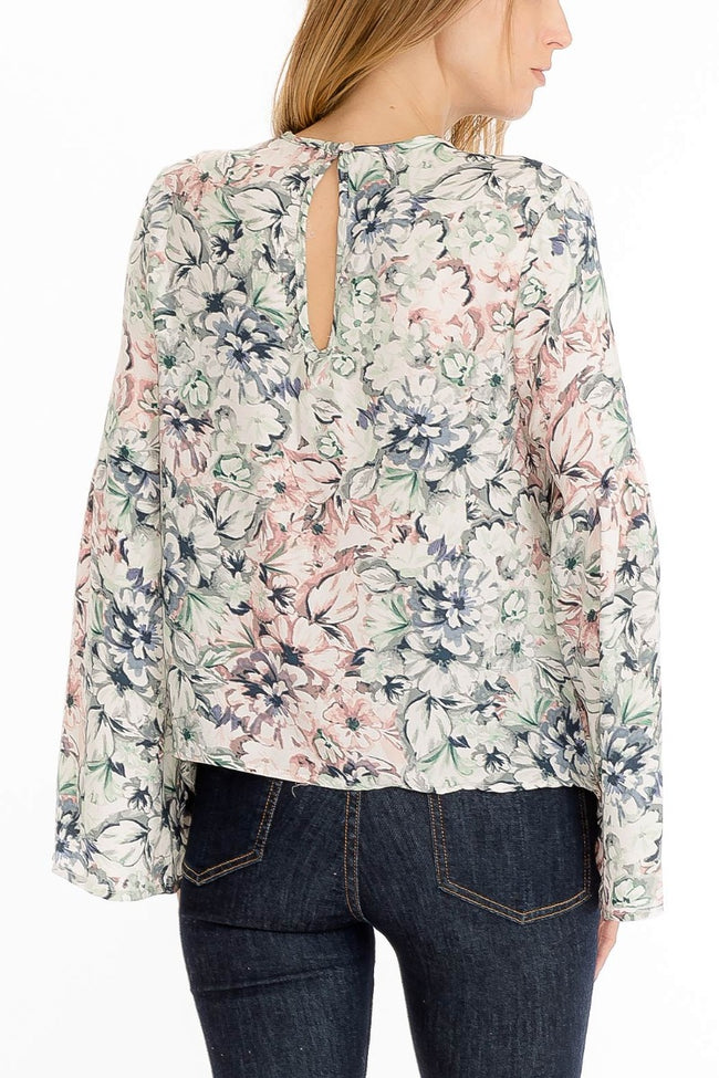 Monet Floral Blouse - Final Sale
