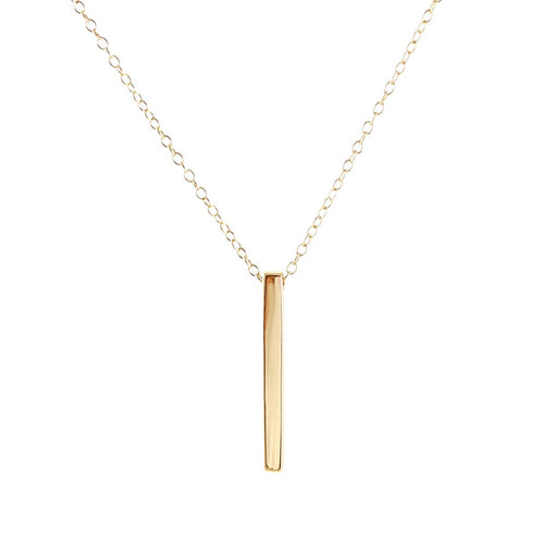 Vertical Bar Necklace Final Sale