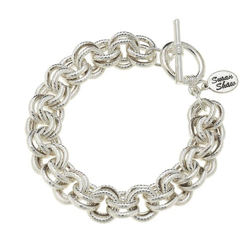 Double Link Bracelet with Toggle 2015