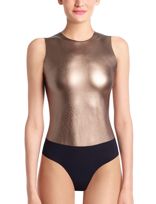 Faux Leather Bodysuit