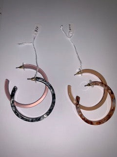 Acetate Hoops 010 FInal Sale