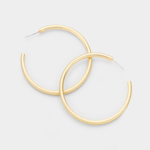 067 Gold Hoop Earrings Final Sale