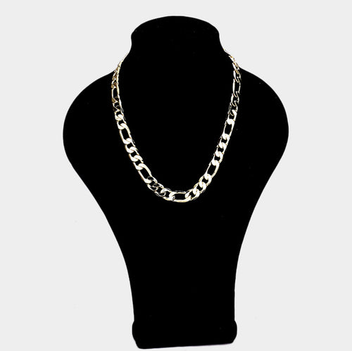 123 14K Plated Figaro Chain Necklace Final Sale