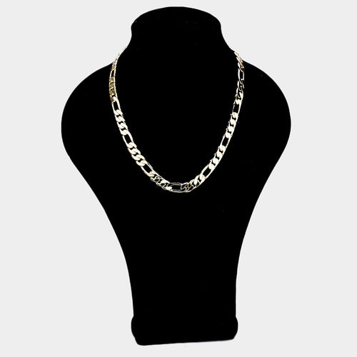 125 14K Gold Plated Figaro Chain Necklace Final Sale