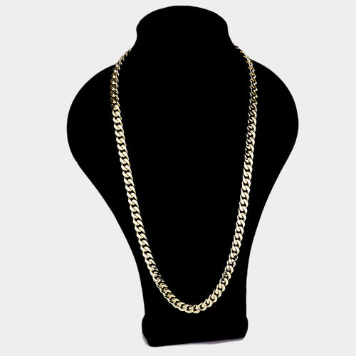 130 14K Plated Curb Chain Necklace Final Sale