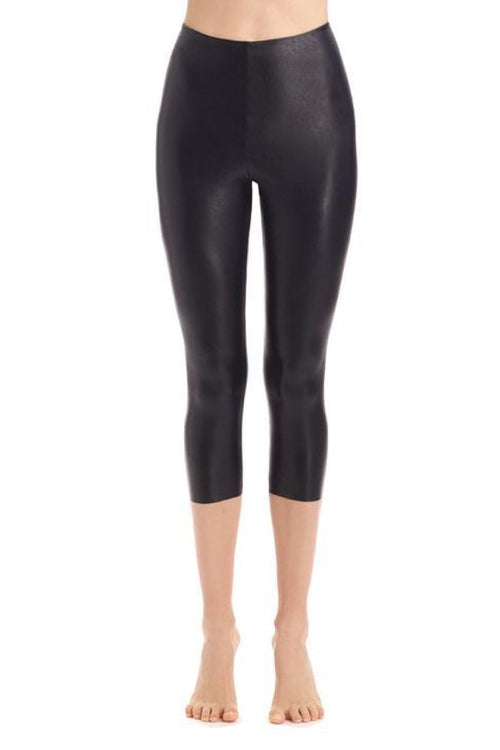 Faux Leather Capri Legging