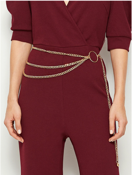 O Ring Layered Chain Belt