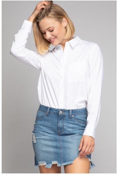 PM Polished Button Down Final Sale