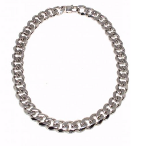 943 Steel Curb Link Necklace Final Sale
