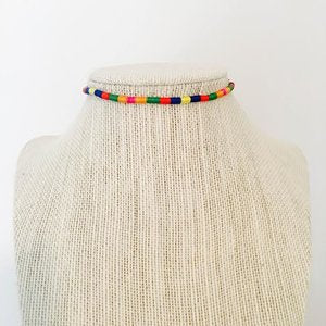 Rainbow Choker 099 Final Sale