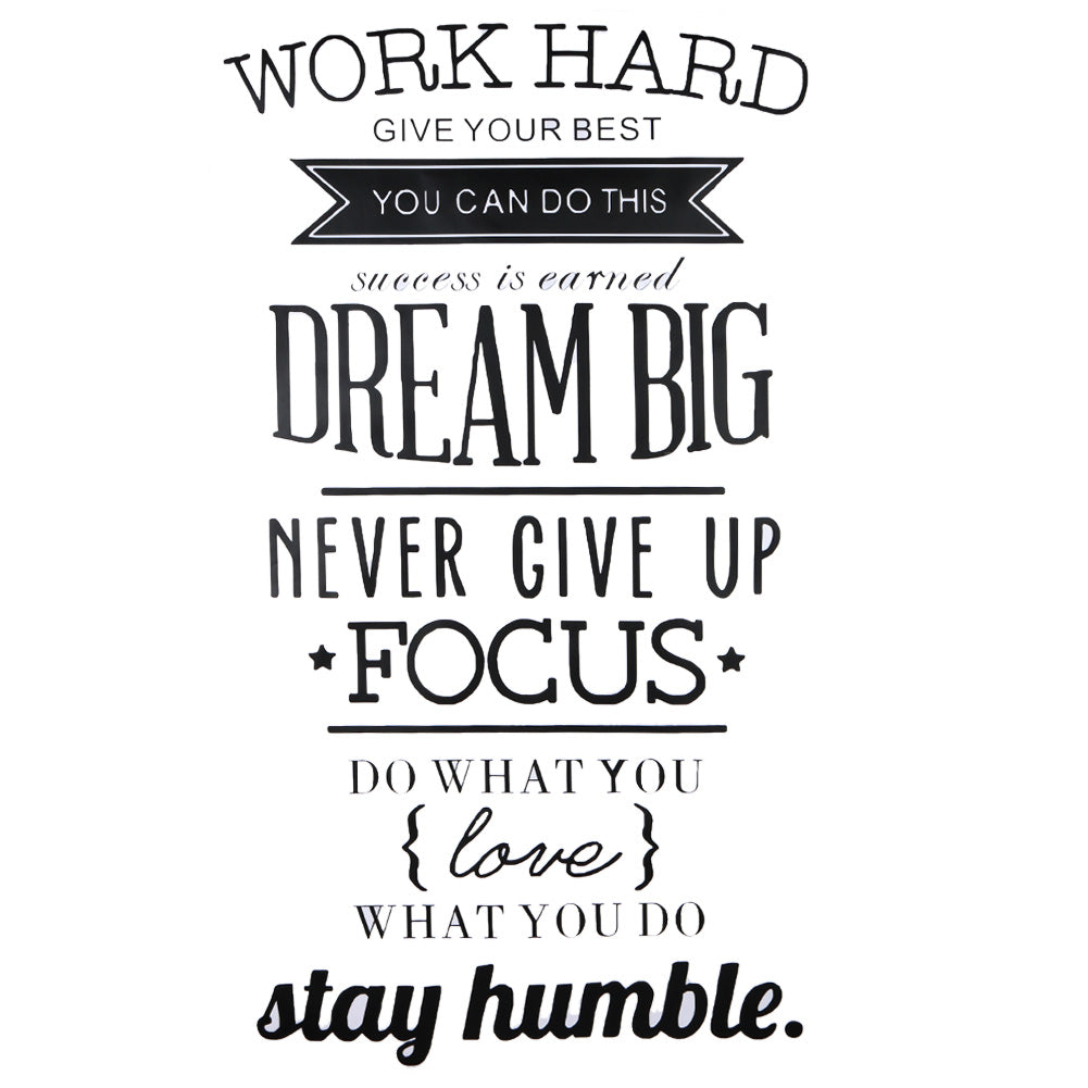 Work Hard Wall quotes,motivational poster Letras Office Home decor Wall Art,letters Stickers 56 X 100cm