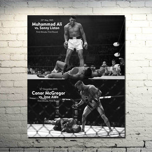 CONOR McGREGOR Muhammad Ali UFC MMA Motivational Silk Poster
