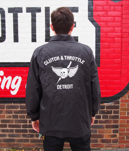 Clutch & Throttle Coaches Jacket Skull Logo