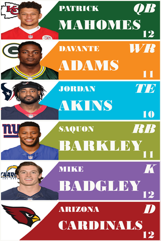 Downloadable  2019 Fantasy Football Large 4 x 1 inch 20 Up Photo Labels