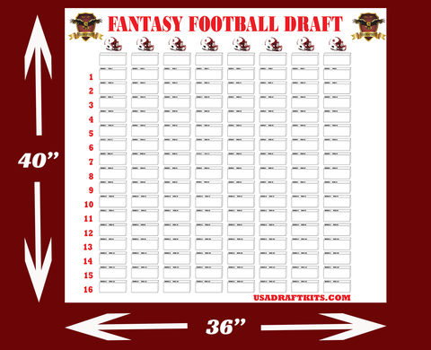 Downloadable Draft Boards - Various sizes for 4 x 1 inch labels - Digital Download only