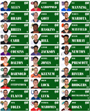 2019 Fantasy Football  1 x 2.65 inch 30 Up Photo Labels only