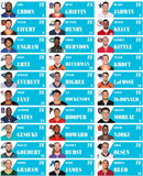 Downloadable 2019 Fantasy Football 2.65 x 1 inch 30 Up Photo Labels only