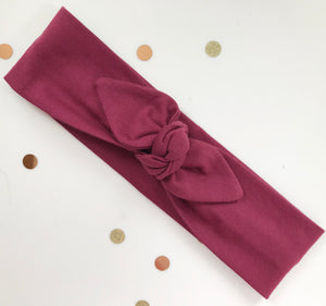 Burgundy Jersey Stretch Headwrap Headband