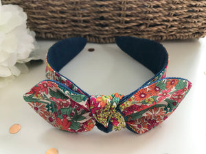 Classic Headwrap Headband in Liberty Tana Lawn Margaret Annie and Denim
