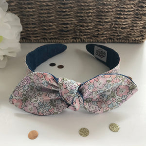 Classic Headwrap Headband in Liberty Tana Lawn Michelle E and Denim