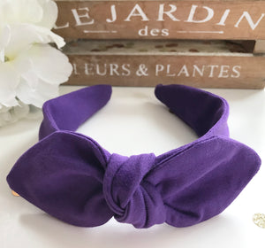 Classic Headwrap Headband in Purple Jersey