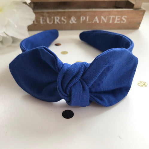 Classic Headwrap Headband in Royal Blue Jersey