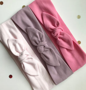 the pink jersey stretch headwrap headband collection