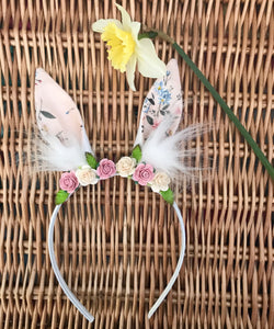 Bunny Ears Headband in Liberty Winterbourne Bouquet Print