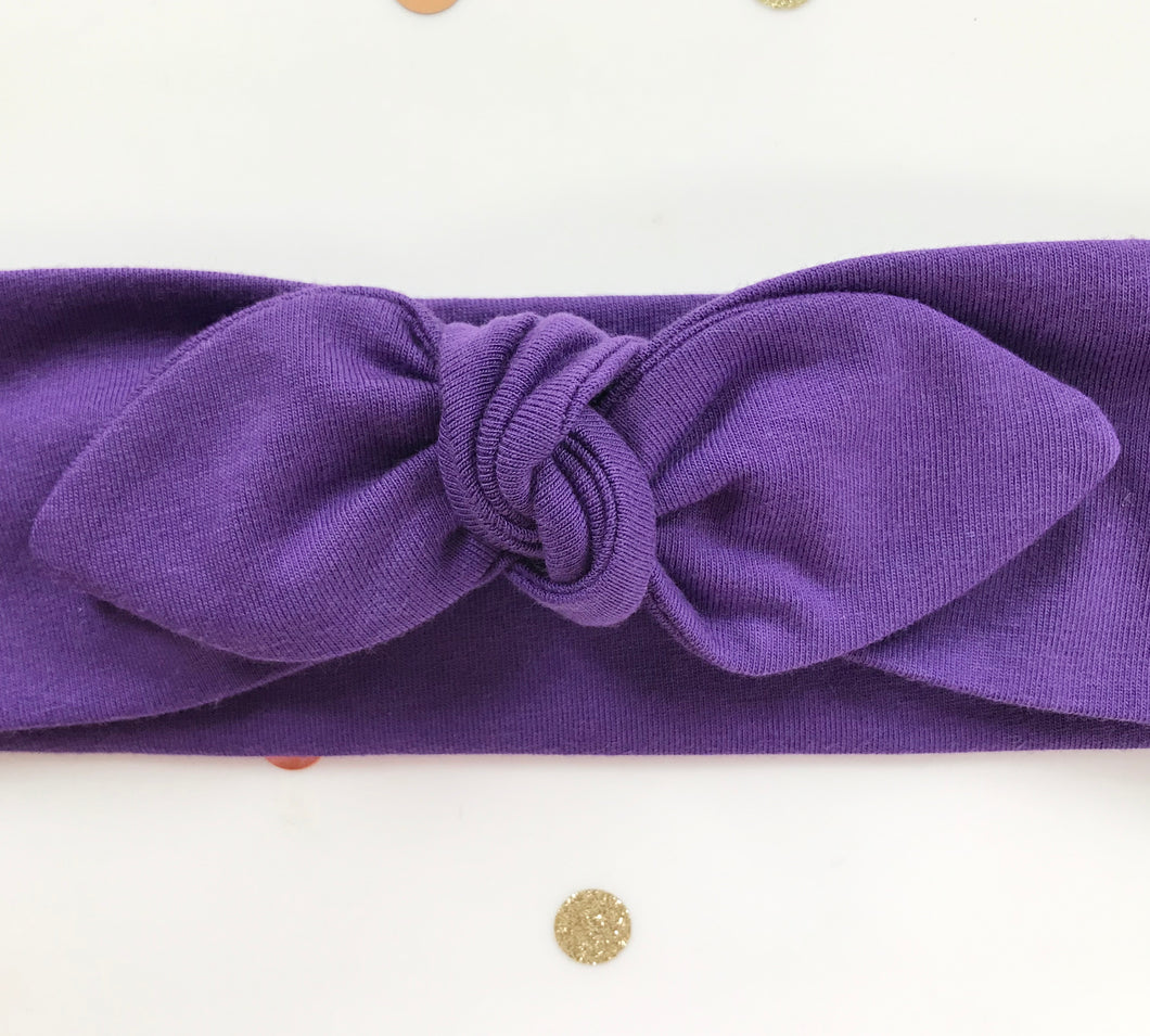Purple Jersey Stretch Headwrap Headband