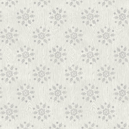 Winter Lodge Gray Snowflake 3307-90
