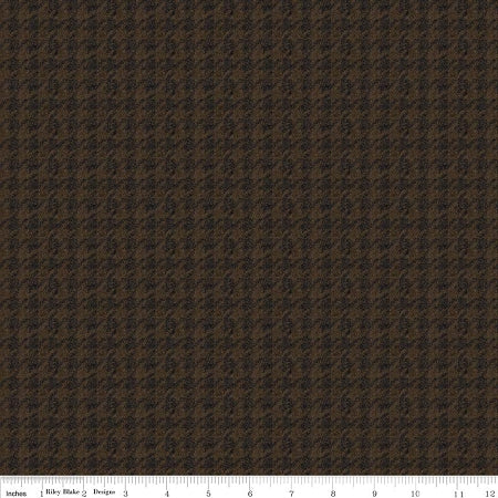 Penny Rose Fabrics Men's Wear Brown Houndstooth C4792 Brown