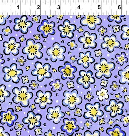 Four Seasons- Spring Collection Purple Floral from In The Beginning 12JPI3