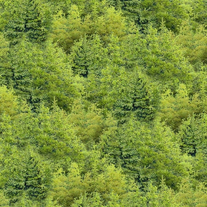 Wild at Heart Green Trees All Over 12606-777