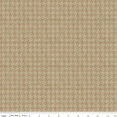 Penny Rose Fabrics Tan Houndstooth C4792 Tan