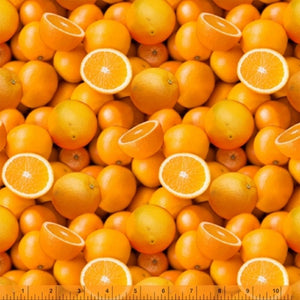 A La Carte Oranges Fabric 51890D-X from Windham by the yard