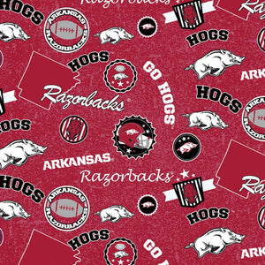 Arkansas Razorback Home State Fabric from Sykel by the yard