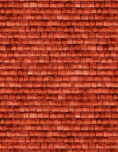 Autumn Grove Red Shingles Landscape Fabric 72269-339 from Wilmington by the yard