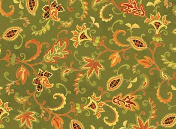 Autumn Song Green Jacobean 26294GRE1 from Red Rooster