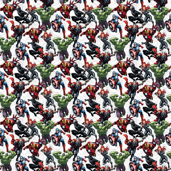 Avengers Unite Marvel Comics Fabric A620715 from Springs Creative by the yard
